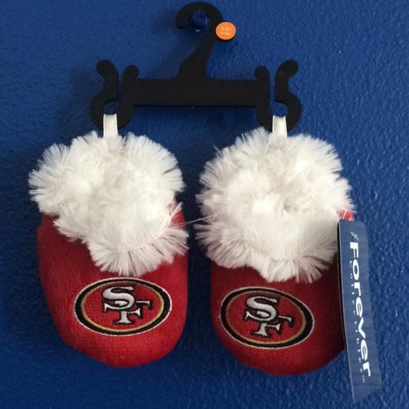 San Francisco 49ers Sneaker Baby Booties Slippers NEW Infant Shoe Newborn Shower